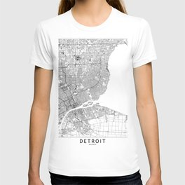 Detroit White Map T-shirt