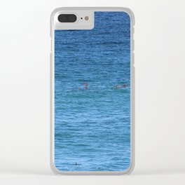 Byron Bay Dolphins Clear iPhone Case