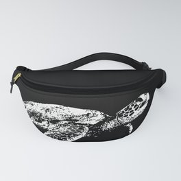 A White Sea Turtle in a Black Sea Fanny Pack