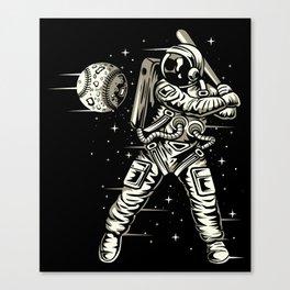 Space Baseball Astronaut Canvas Print