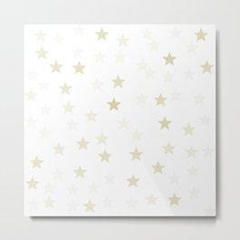 Stars - Gold Metal Print