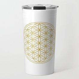 Flower of Life Gold Travel Mug