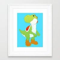 yoshi Framed Art Prints featuring Yoshi by bloozen