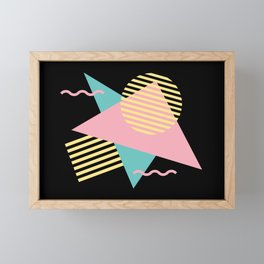 Memphis Pattern 28 / 80s - 90s Retro Framed Mini Art Print