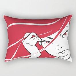 Red Hair Rectangular Pillow