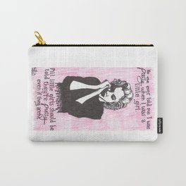 """Marilyn Monroe; """"All Little Girls Should Be Told They're Pretty"""" Carry-All Pouch"""