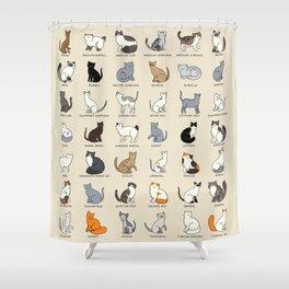 Cat Breeds Shower Curtain