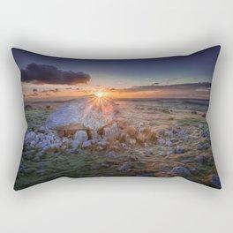 Sunset at Arthur's stone Rectangular Pillow