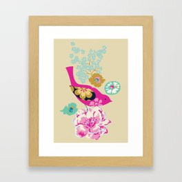 Birds and Blooms 1 Framed Art Print