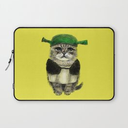 Shreky Cat Laptop Sleeve