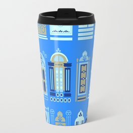 Moroccan Doors – Cornflower Blue Palette Travel Mug