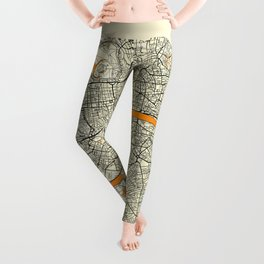London Map Moon Leggings
