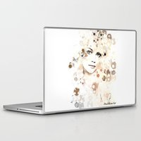 emma stone Laptop & iPad Skins featuring Emma Stone by Rene Alberto