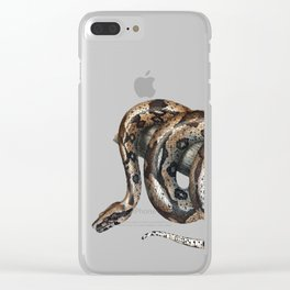Lurking snake Clear iPhone Case