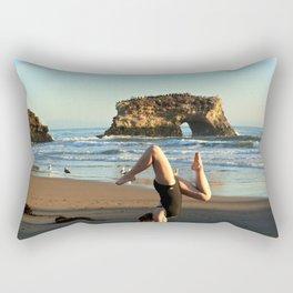 Upside down at Natural Bridges Rectangular Pillow