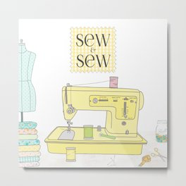 Sew and Sew Metal Print