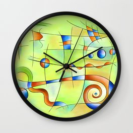 Frenesia - mad world Wall Clock