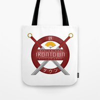 studio ghibli Tote Bags featuring IRONTOWN - Studio Ghibli by Aonair Designs