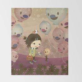 Balloon Tree Song Throw Blanket