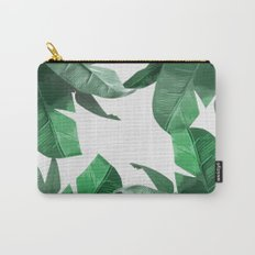 Tropical Palm Print Carry-All Pouch