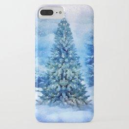 Christmas tree scene iPhone Case