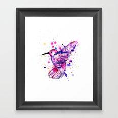 Hummingbird Splatter Framed Art Print