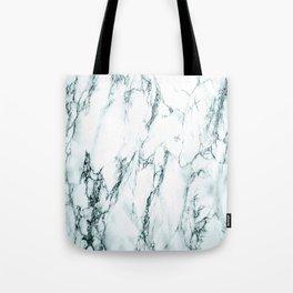 Green Marble Look Tote Bag