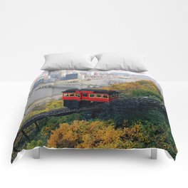 An Autumn Day on the Duquesne Incline in Pittsburgh, Pennsylvania Comforters