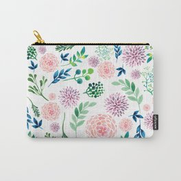 Watercolour Flowers and Nature Carry-All Pouch