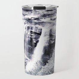 West Virginia Blackwater Falls Black and White Travel Mug