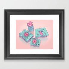 Flowers & Consoles Framed Art Print
