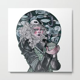 Lady Knight Metal Print