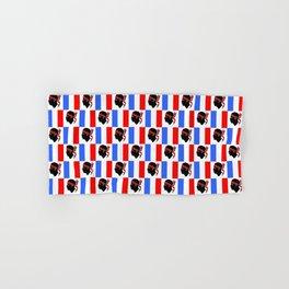 Mix of flag : France and Corsica 2 Hand & Bath Towel