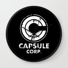Capsule Corp Vintage white Wall Clock