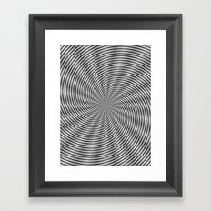 Spiral Rays in Monochrome Framed Art Print