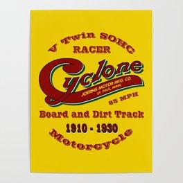 Cyclone Motorcycle Original Yellow Poster