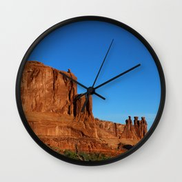 Red Sandstone Landscape of the Arches Park Wall Clock
