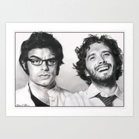 flight of the conchords Art Prints featuring Flight of the Conchords by Mike Robins