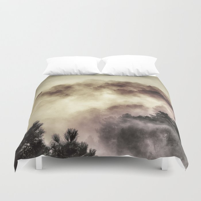 """Surprise misty forest"" Duvet Cover"