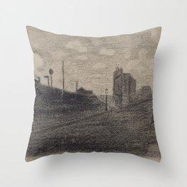 Rue Vercingétorix Throw Pillow