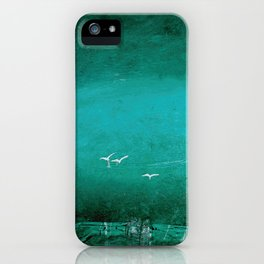 Emerald seagulls iPhone Case
