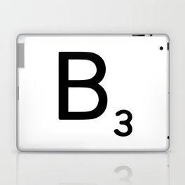 Letter B - Custom Scrabble Letter Wall Art - Scrabble B Laptop & iPad Skin
