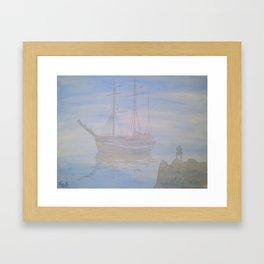 Anchored Framed Art Print