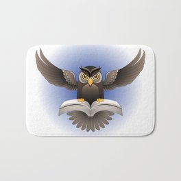 Brown Owl fly with the book Bath Mat