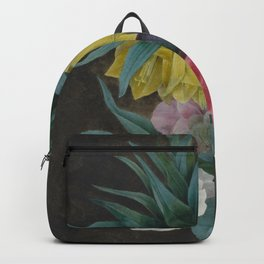 Pierre Joseph Redouté - Four Peonies and a Crown Imperial Backpack