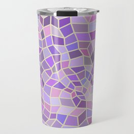 Violet Mosaic Tiles Travel Mug