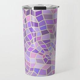 Violet Mosaic Tiles Travel Mug