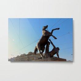 Bronze Horseman Metal Print