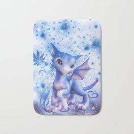 Cuddle me Dragon in blue Bath Mat