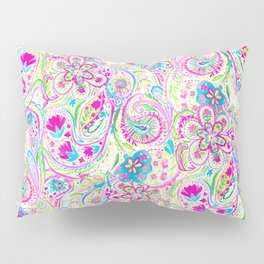 Paisley Watercolor Brights Pillow Sham